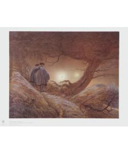 Caspar David Friedrich, Zwei Männer in Betrachtung des Mondes