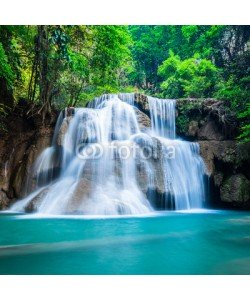 calcassa, Deep forest waterfall at National Park Kanchanaburi Thailand