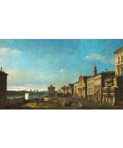 Giovanni Antonio Canaletto, Ansicht der Via Ripetta in Rom
