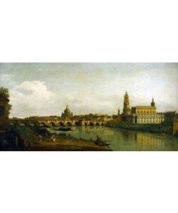 Canaletto       , Dresden, Blick vom rechten Elbe