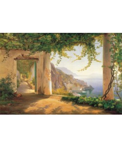 Carl Frederic Aagaard, View to the Amalfi Coast