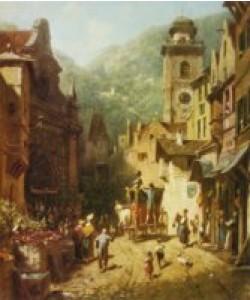 Carl Spitzweg, Der Besuch des Landesvaters