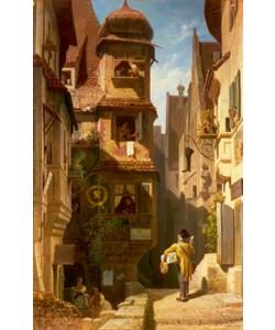 Carl Spitzweg, Der Briefbote im Rosental