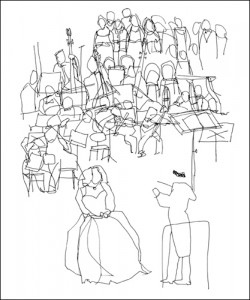 Cédric Chauvelot, Orchestre, 2009 (Büttenpapier)