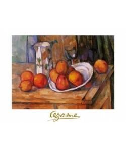 Paul Cézanne, Bricco, bicchiere e piato