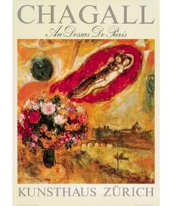Marc Chagall, gerahmtes Bild, Au-Dessus de Paris