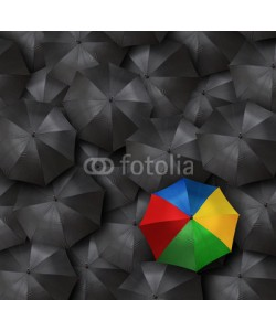chones, concept for leadership with many umbrellas