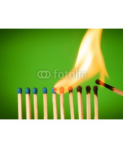 chones, concept with matches- chain reaction