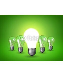 chones, Idea concept with light bulbs
