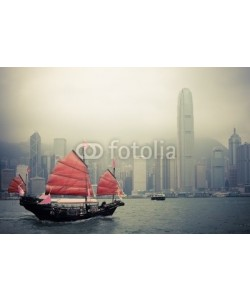 chungking, chinese style sailboat in Hong Kong
