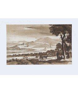 Claude Claude Lorrain, Landschaft mit Türmen und Herde