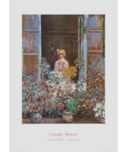 Claude Monet, Camille Monet am Fenster, 1873
