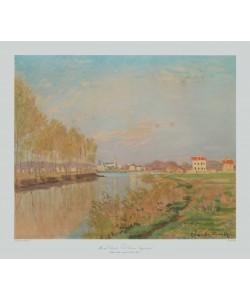 Claude Monet, Die Seine bei Argenteuil mit Pappelreihe