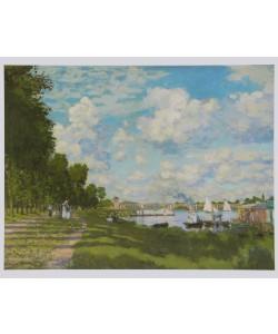 Claude Monet, Flusslandschaft - Le Bassin d&#39Argenteuil, 1872