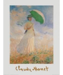 Claude Monet, Frau mit Sonnenschirm - nach rechts, 1886