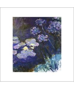 Claude Monet, Gelbe Seerosen und Agapanthes