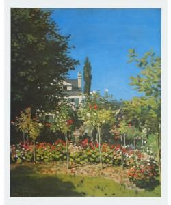 Claude Monet, Jardin en Fleurs - Im Garten, 1866
