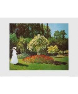 Claude Monet, Jeanne Marguerite Lecadre im Garten - 1866