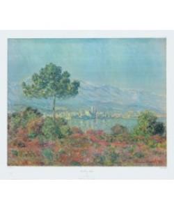 Claude Monet, Pinien und Felsen (Felsenlandsch.über Meeresbucht)