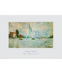 Claude Monet, Regatta bei Argenteuil bei schlechtem Wetter
