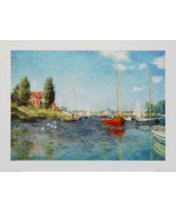 Claude Monet, Rote Boote - Argenteuil, 1875