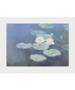 Claude Monet, Seerosen im Abendlicht (Ausschnitt)