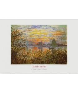 Claude Monet, Sonnenuntergang bei Lavacourt