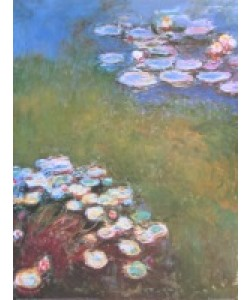 Claude Monet, Waterlilies, Harmony in Blue