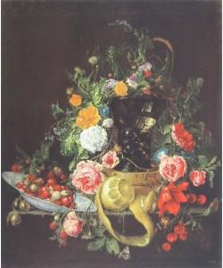 Cornelis Heem, Stilleben mit einer Schachtel und einem Weinglase