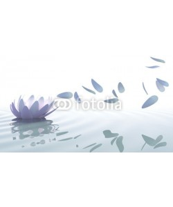 dampoint, Zen lotus with petals moved by wind