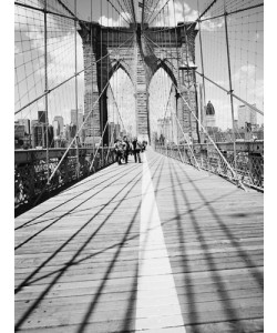 Dave Butcher, Brooklyn Bridge Tower and Cables #1