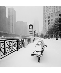 Dave Butcher, Chicago River Promenade in Winter