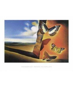 Salvador Dali, Paysage aux Papillons