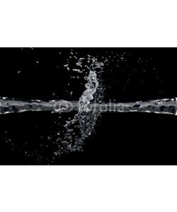 dampoint, Two waterjet collide on a black background