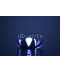 dampoint, Zen flower lotus with glowing sphere