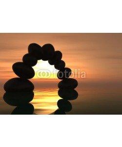 dampoint, Zen stone arch in sunset