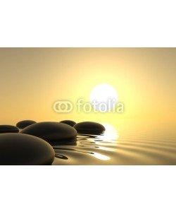 dampoint, Zen stones in water on white background