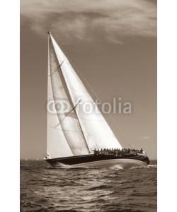Darren Baker, sailing in sepia