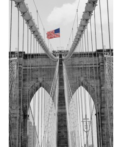 Dave Butcher, Brooklyn Bridge Tower and Cables #2