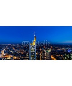 davis, Frankfurt Main Tower Panorama at night