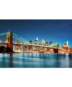dell, Brooklyn bridge at night