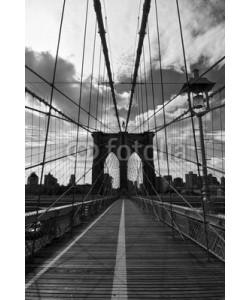 Delphimages, Pont de Brooklyn noir et blanc - New-York