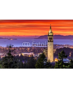 dexchao, Dramatic Sunset over San Francisco Bay and the Campanile