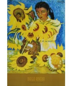 Diego Rivera, Muchacha con Girasoles - Frau mit Sonnenblumen