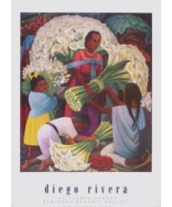 Diego Rivera, Beim Blumenhändler, 1949