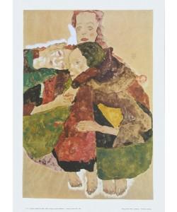 Egon Schiele, Gruppe von drei Mädchen - 1911