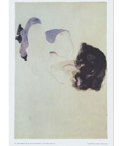 Egon Schiele, Akt mit violetten Strümpfen - 1912