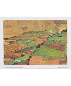 Egon Schiele, Anhöhe bei Krumau (Gewitterberg) - 1910