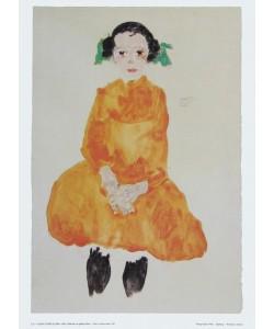 Egon Schiele, Mädchen in gelbem Kleid - 1911