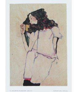 Egon Schiele, Schlafendes Mädchen - 1911